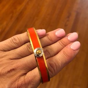 Henri Bendel clic clac orange bangle